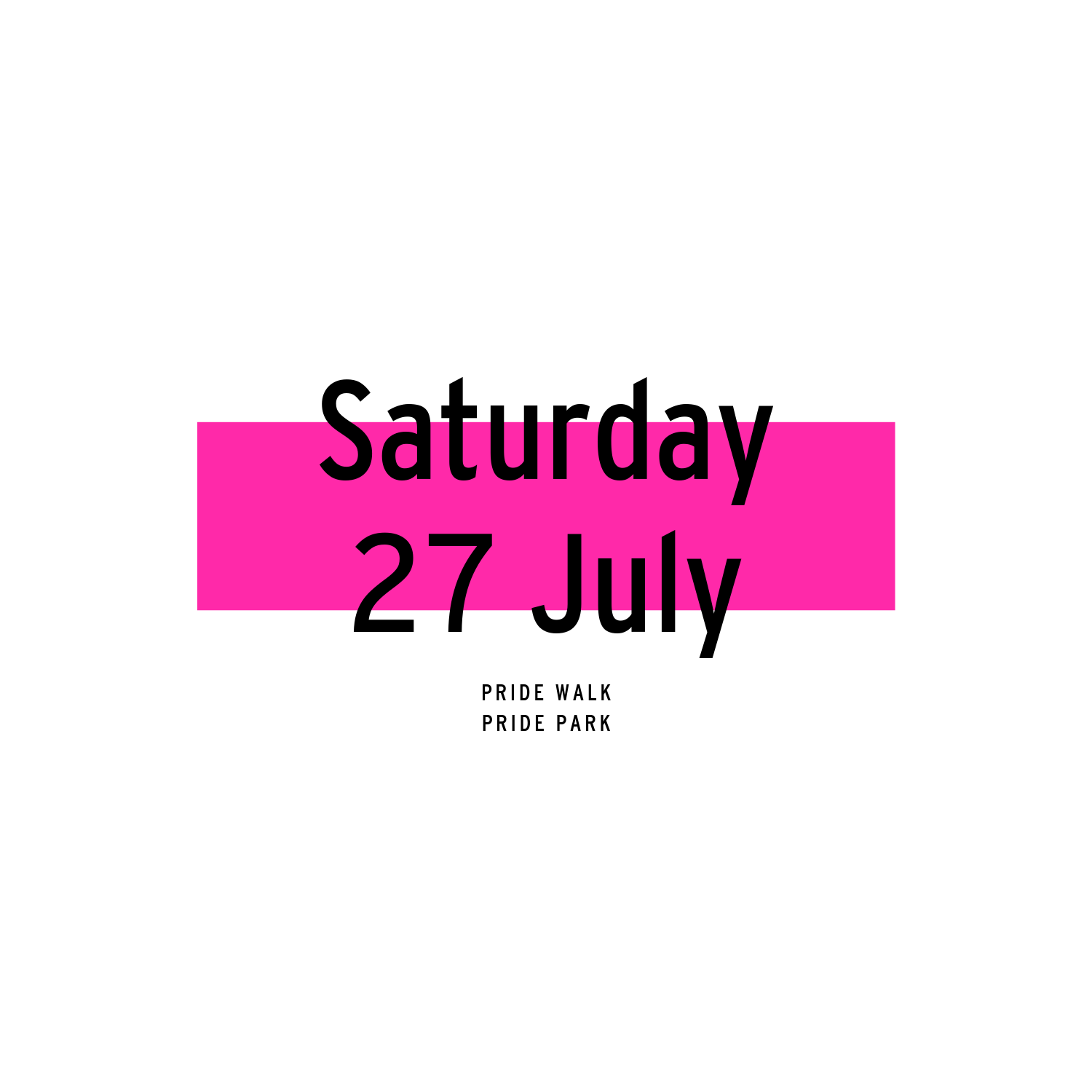 Saturday 27 July | 2019