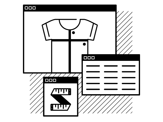 Illustration of sizing custom products