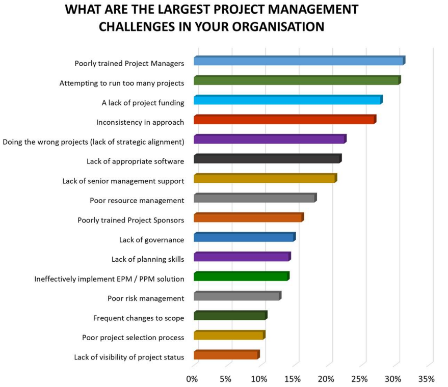 wellingtone project management challenges graph