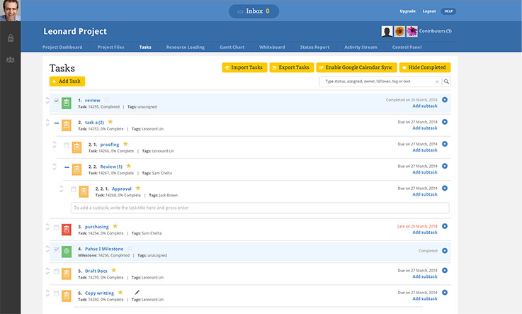 Binfire Task Management Software