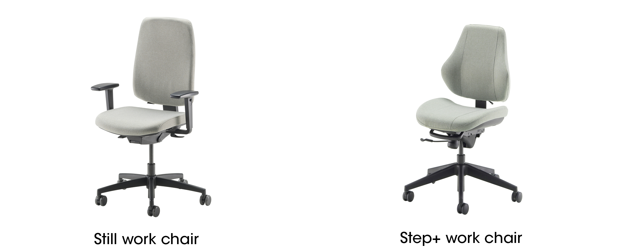 Still and Step+ work chairs