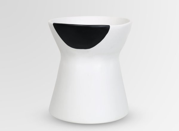 BOW VASE - BLACK DOT by Dinosaur Designs