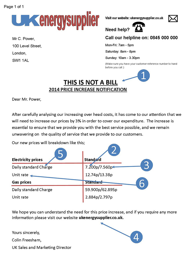 Price increase letter what to do when your energy price increases what to do when you receive a price increase notification letter thecheapjerseys Image collections