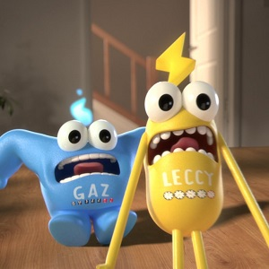 Image of Gaz and Leccy smart meter advert characters