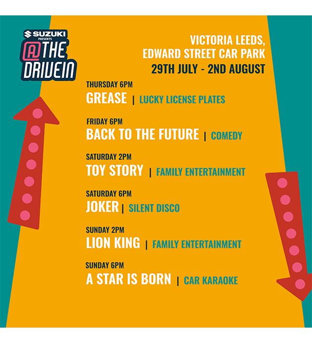Victoria Leeds Drive in Schedule Article Image