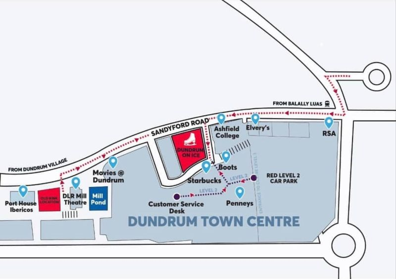 Dundrum on ice map