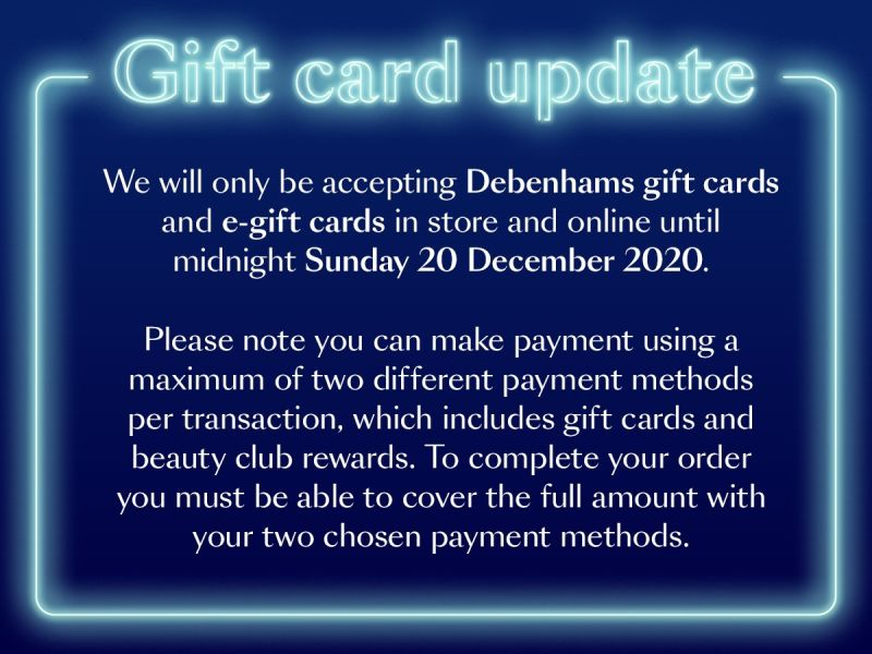 Debenhams GC announcement