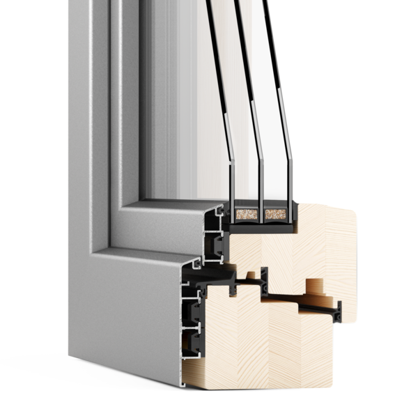 LogikHaus Logikwin 88mm window cutaway section