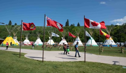 Elbow River Camp Flag Lowering