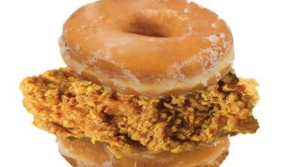Donut chicken burg