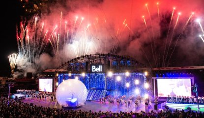 Bell Grandstand Show Card Background
