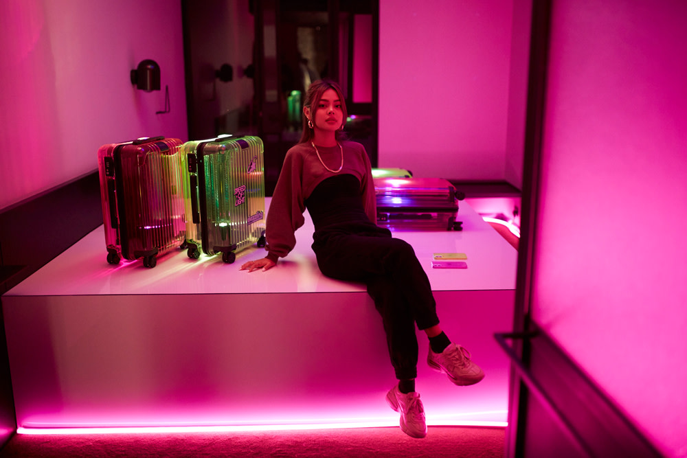 RIMOWA Essential Neon Hotel Room Lily May Mac