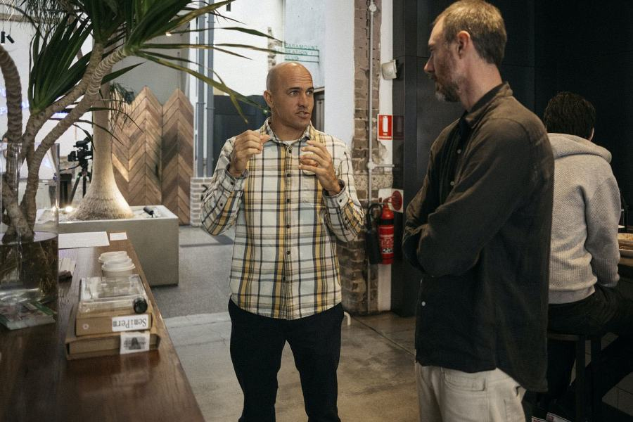 Kelly Slater and Murray Bell at Paramount House Golden Age Cinema and Bar