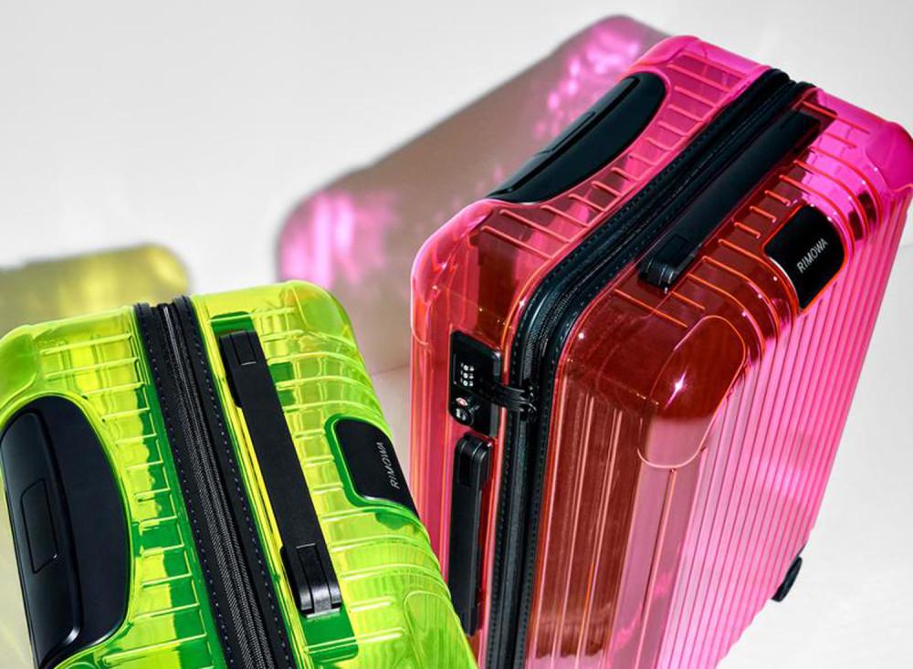 RIMOWA Essential Neon Suitcases