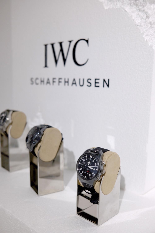 IWC timepiece within Haydenshapes pop-up