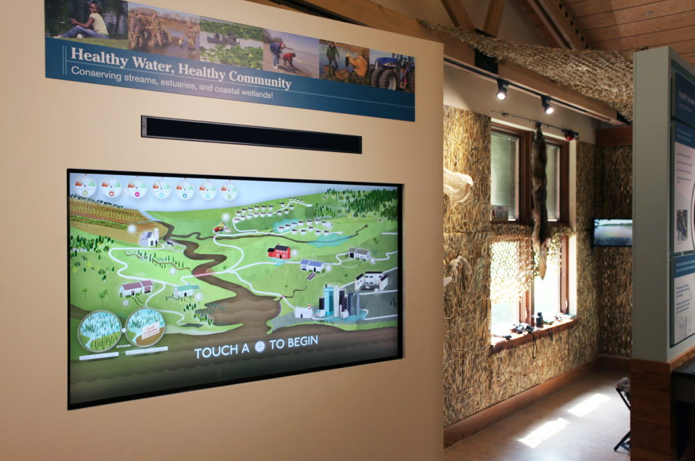 Photo of the Reactive Estuary kiosk in-situ.