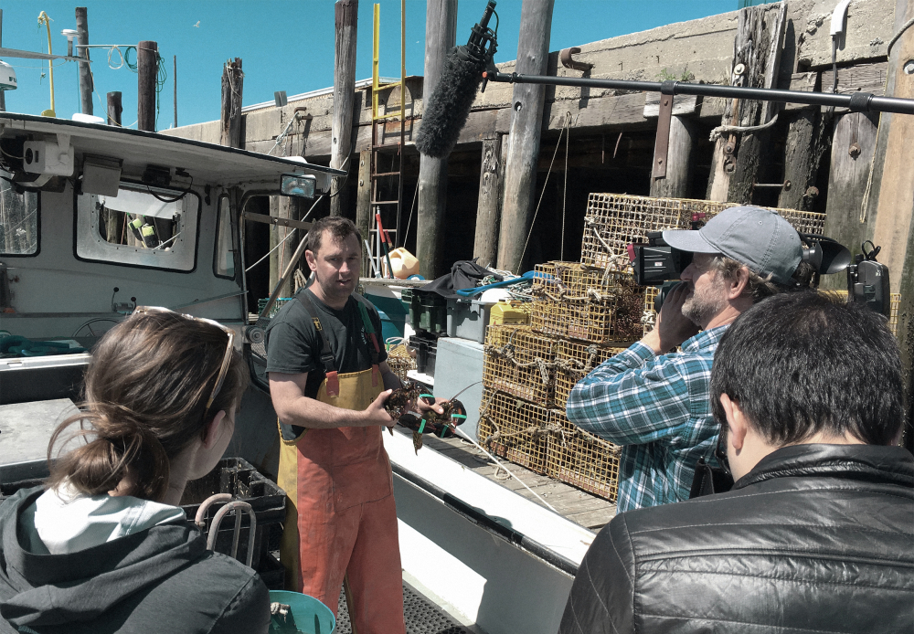 Interview with Curt, the lobsterman-scientist, at the pier.