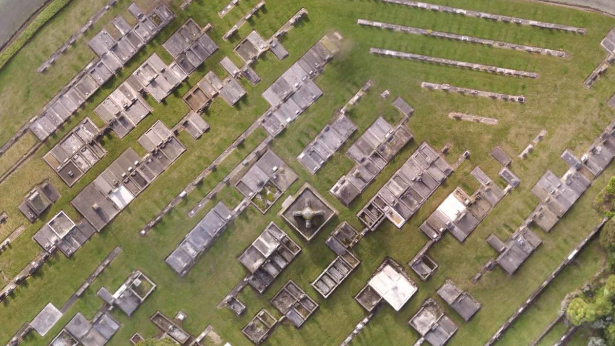 aerial-image-of-a-graveyard