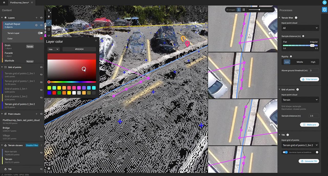SCR GEO Pix4Dsurvey color changes