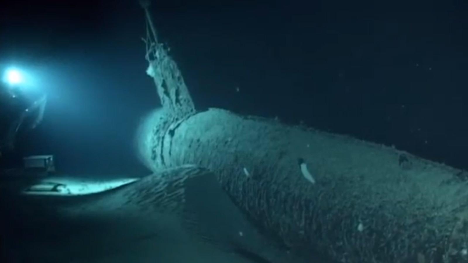 a sunken ww2 submarine
