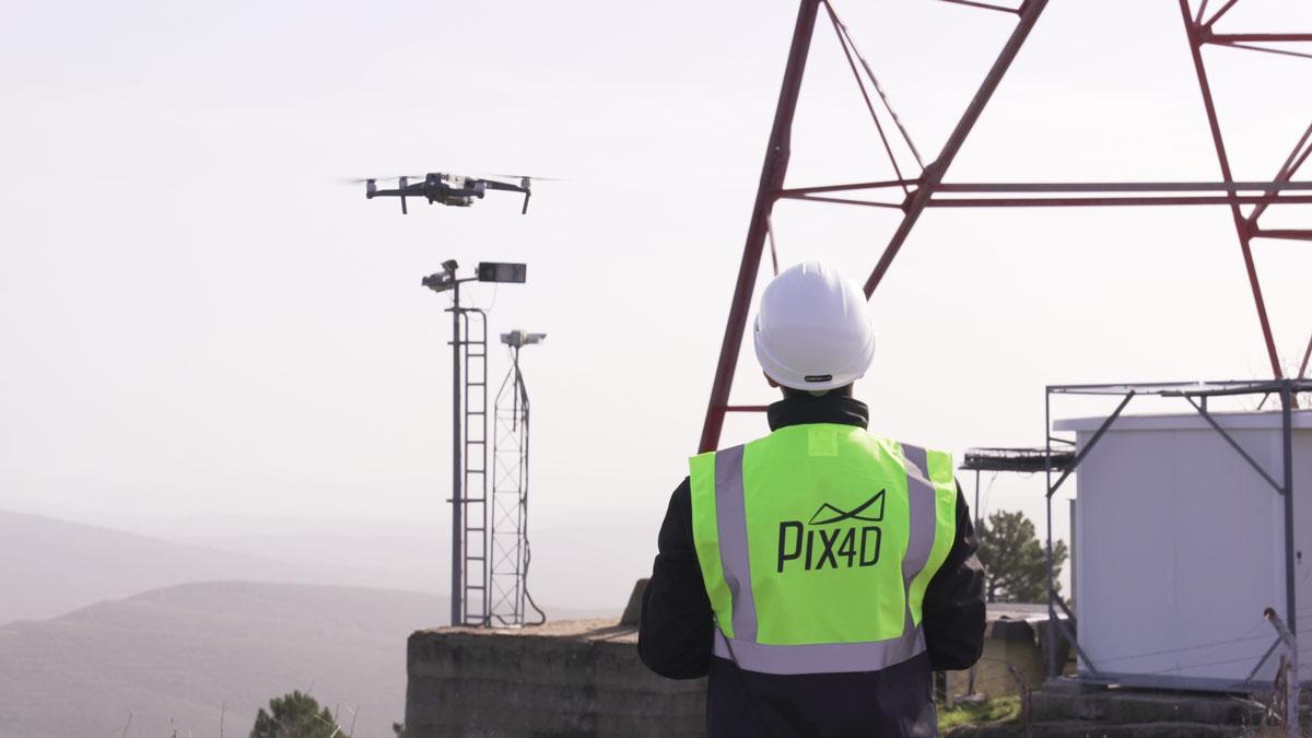 Bestandsprüfung mit Bildern von Drohnen