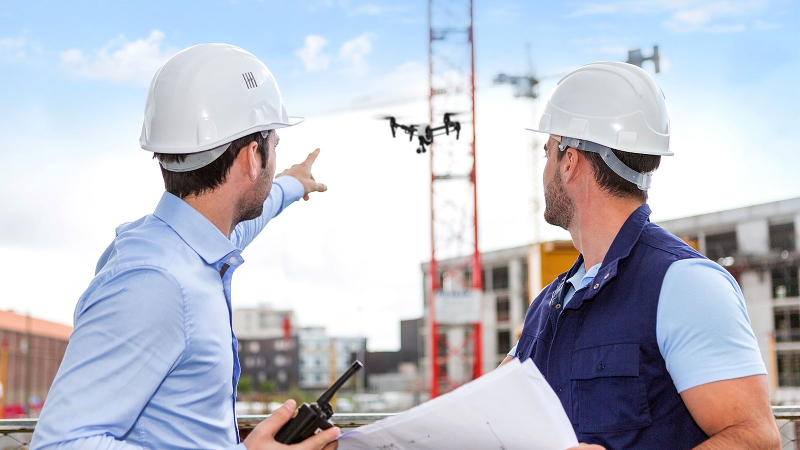 Use drones in construction project management