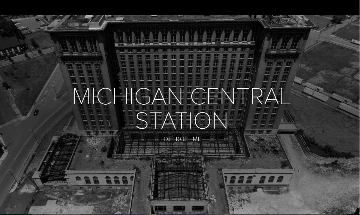 MICHIGAN CENTRAL aerial image by Dandelion Air & Pix4D