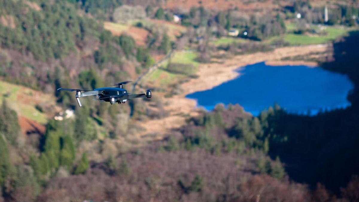 SEarch-and-rescue-drone-flying-over-a-lake