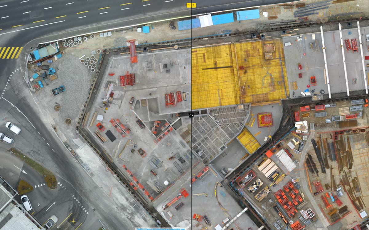comparing project progress in Pix4Dcloud Advanced
