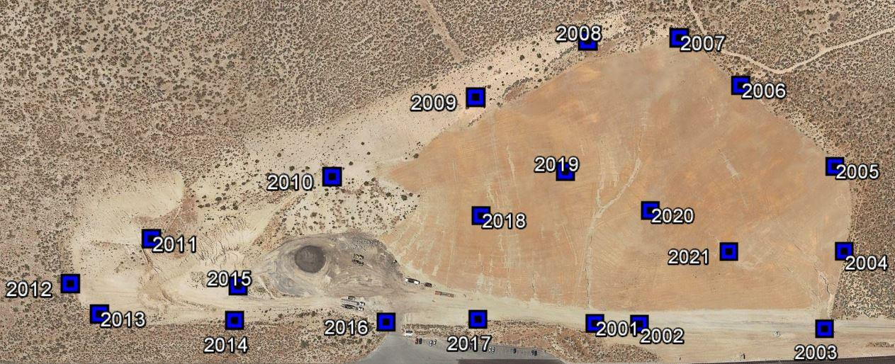 Ground Control Point layout on the Nevada Department of Transportation project site.