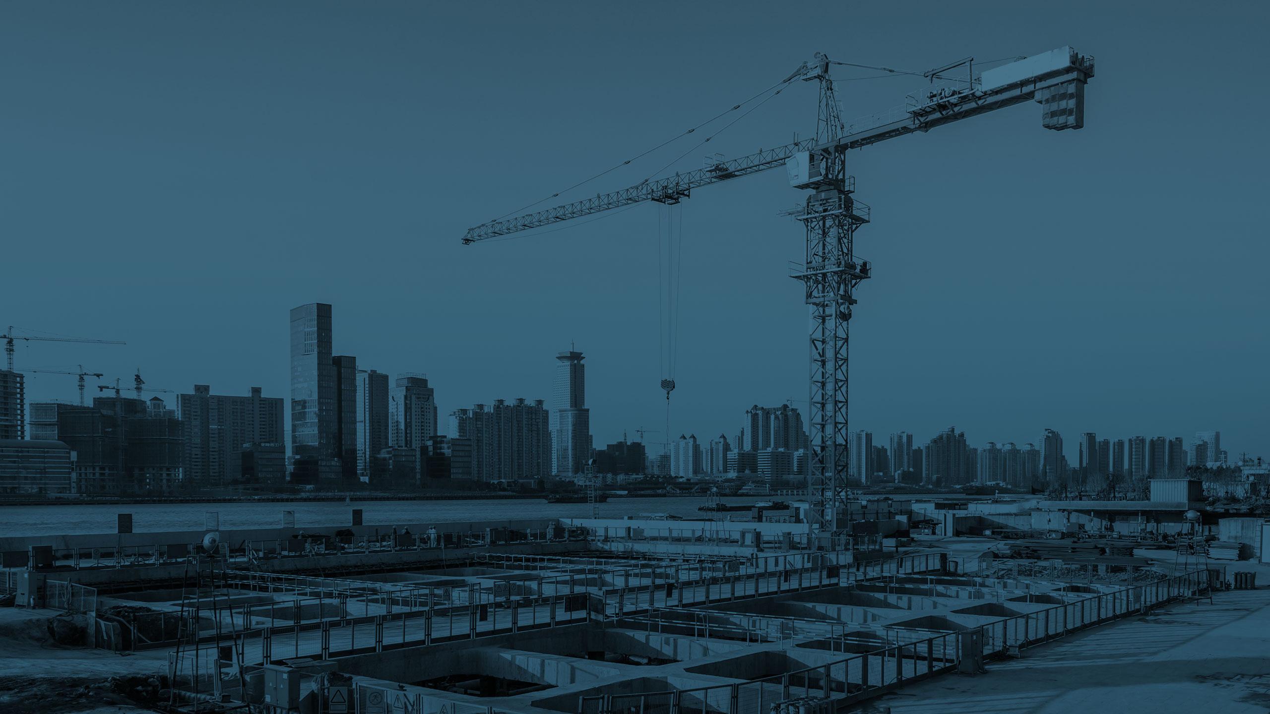 IMAGE-Crane over cityscape
