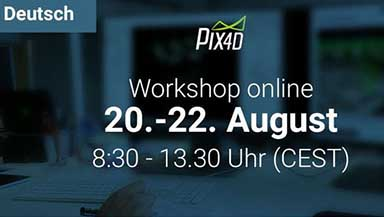 Pix4D online workshop for photogrammetry and drone mapping