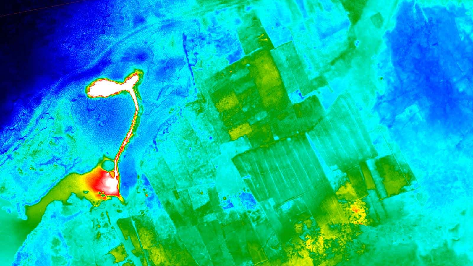 Thermal image of the geothermal power plant