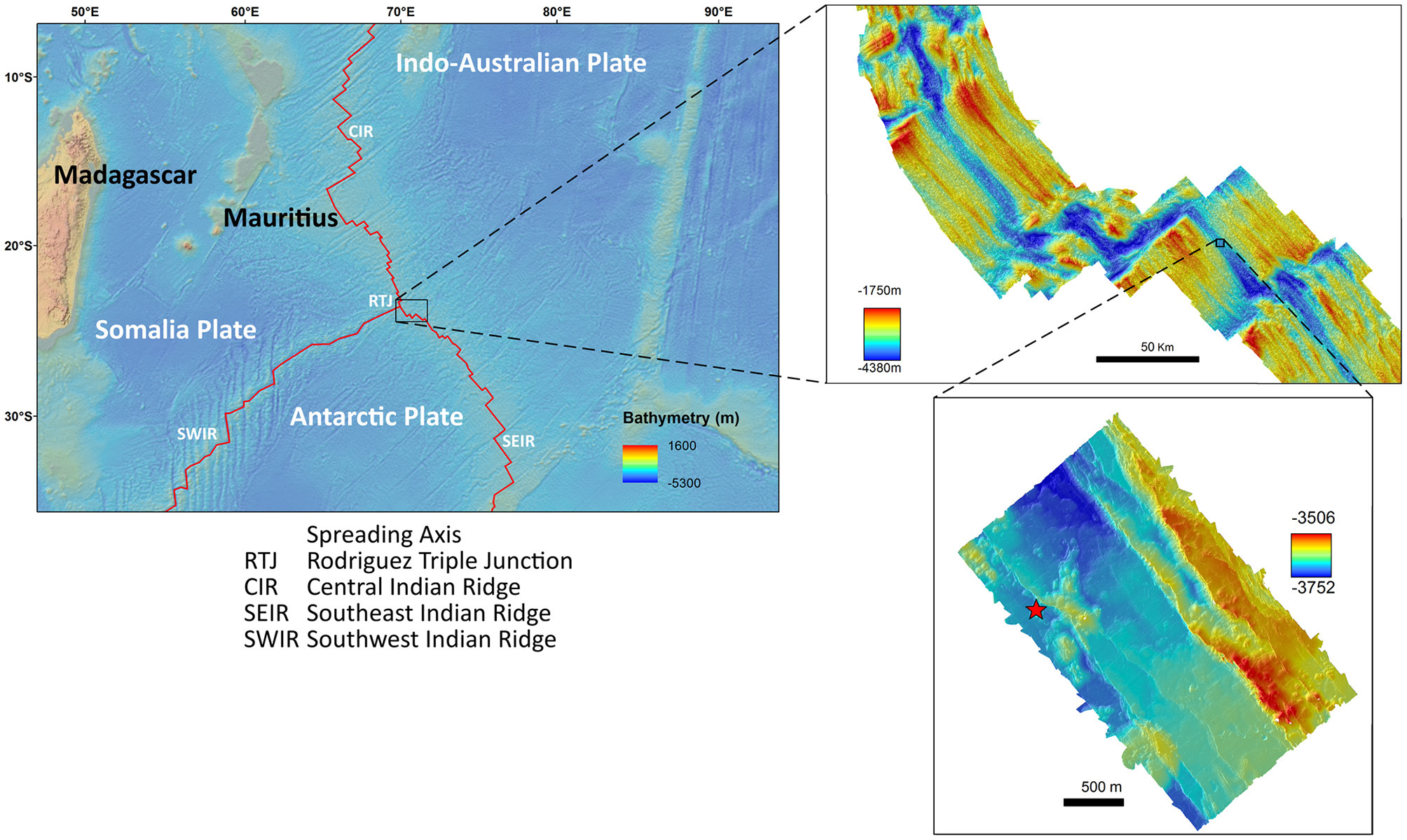 Location of an underwater thermal vent mapped with Pix4Dmapper