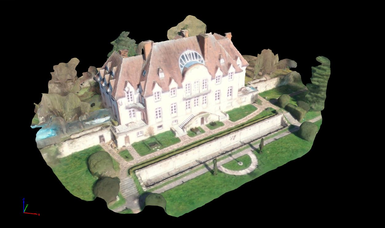 3D model of Chateau Lion created using drone mapping software