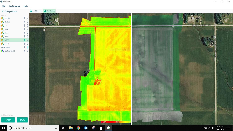 Pix4Dfields usecase MicaSense RedEdge irrigation