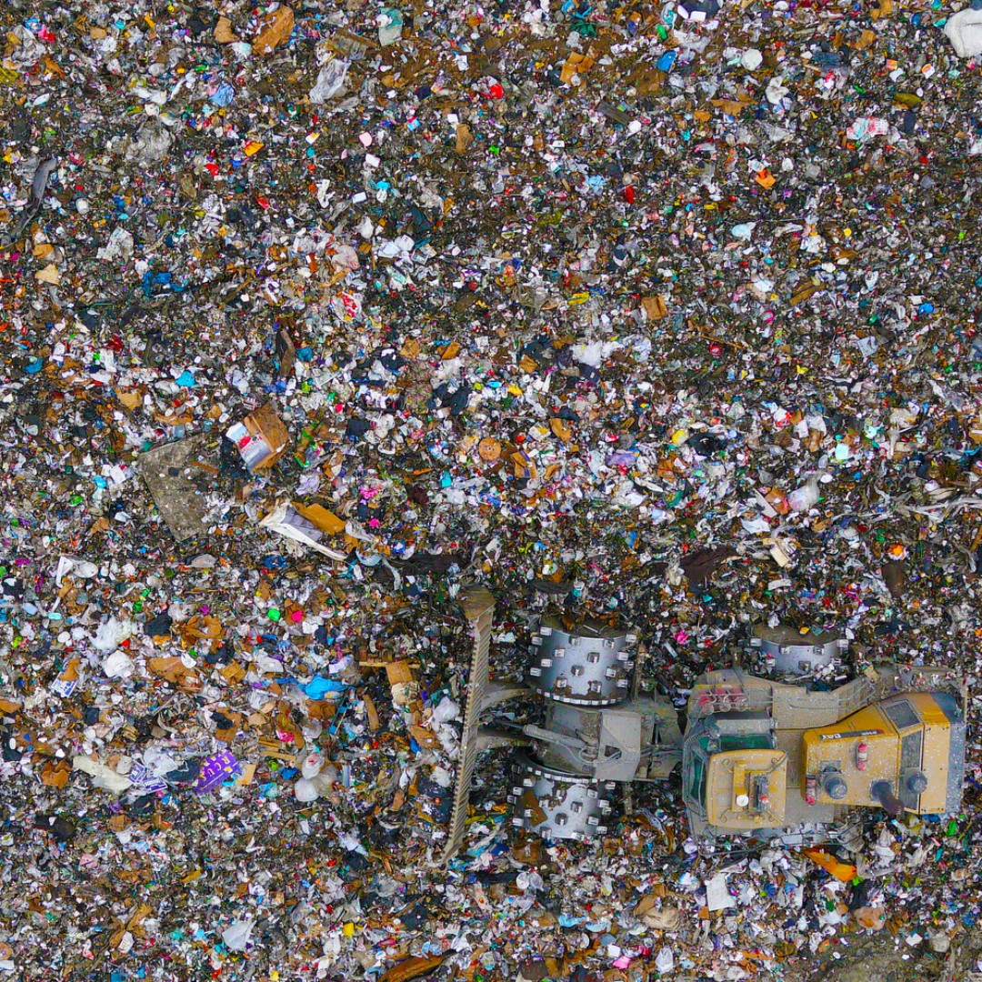 Pix4D drone challenge aerial image of landfill waste