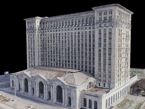 A 3D model of the Michigan Central Station