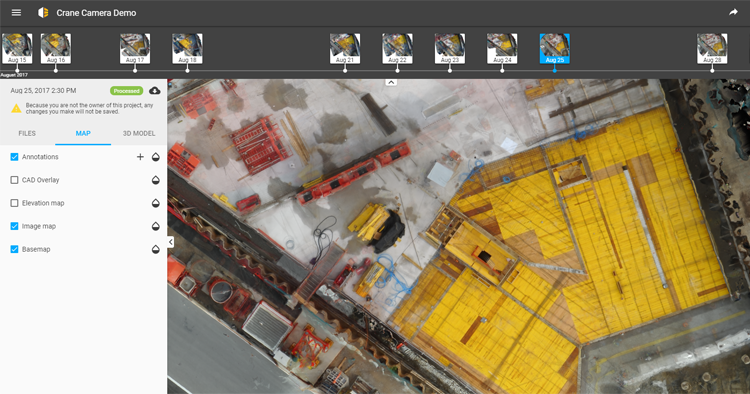Aerial imagery in construction: Pix4D Crane Camera solution