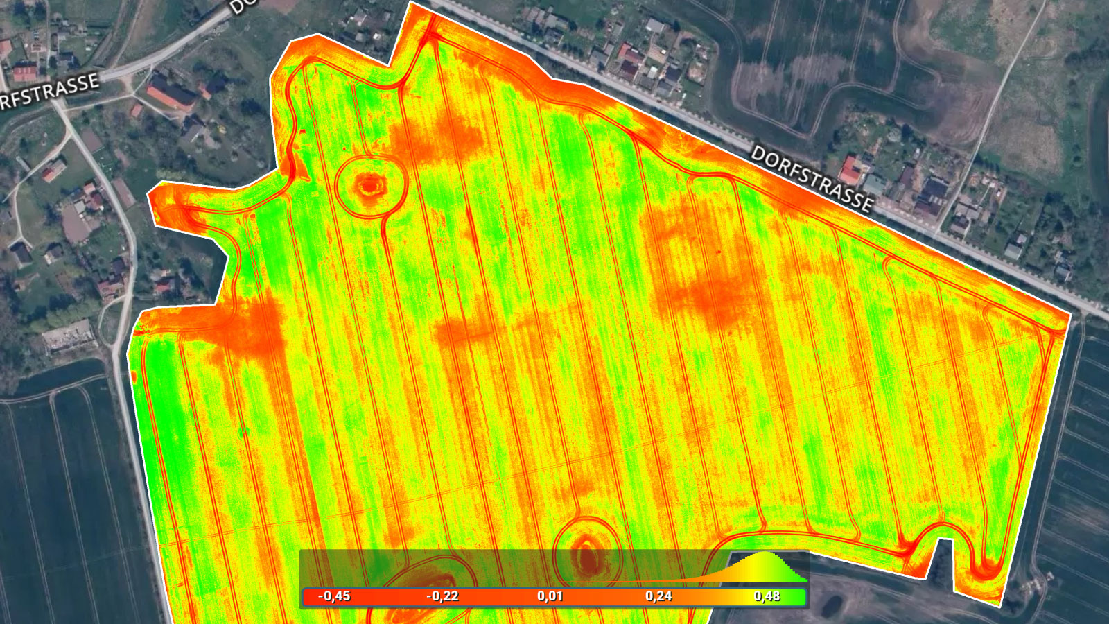 IMAGE OUTPUTS PIX4DFIELDS vegetation index map