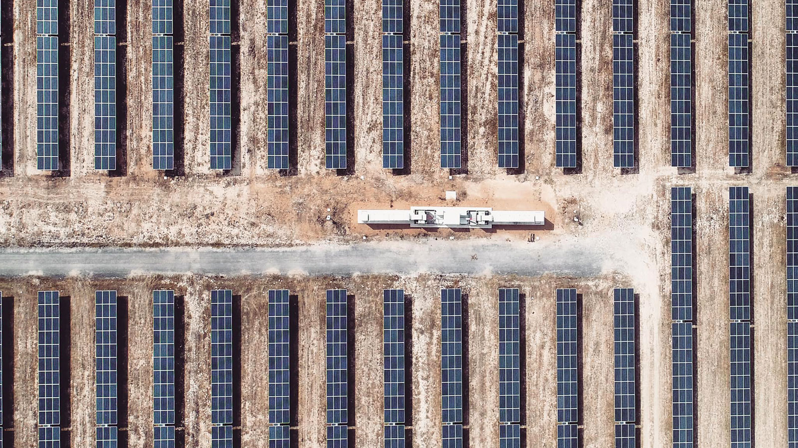solar park capture with a drone