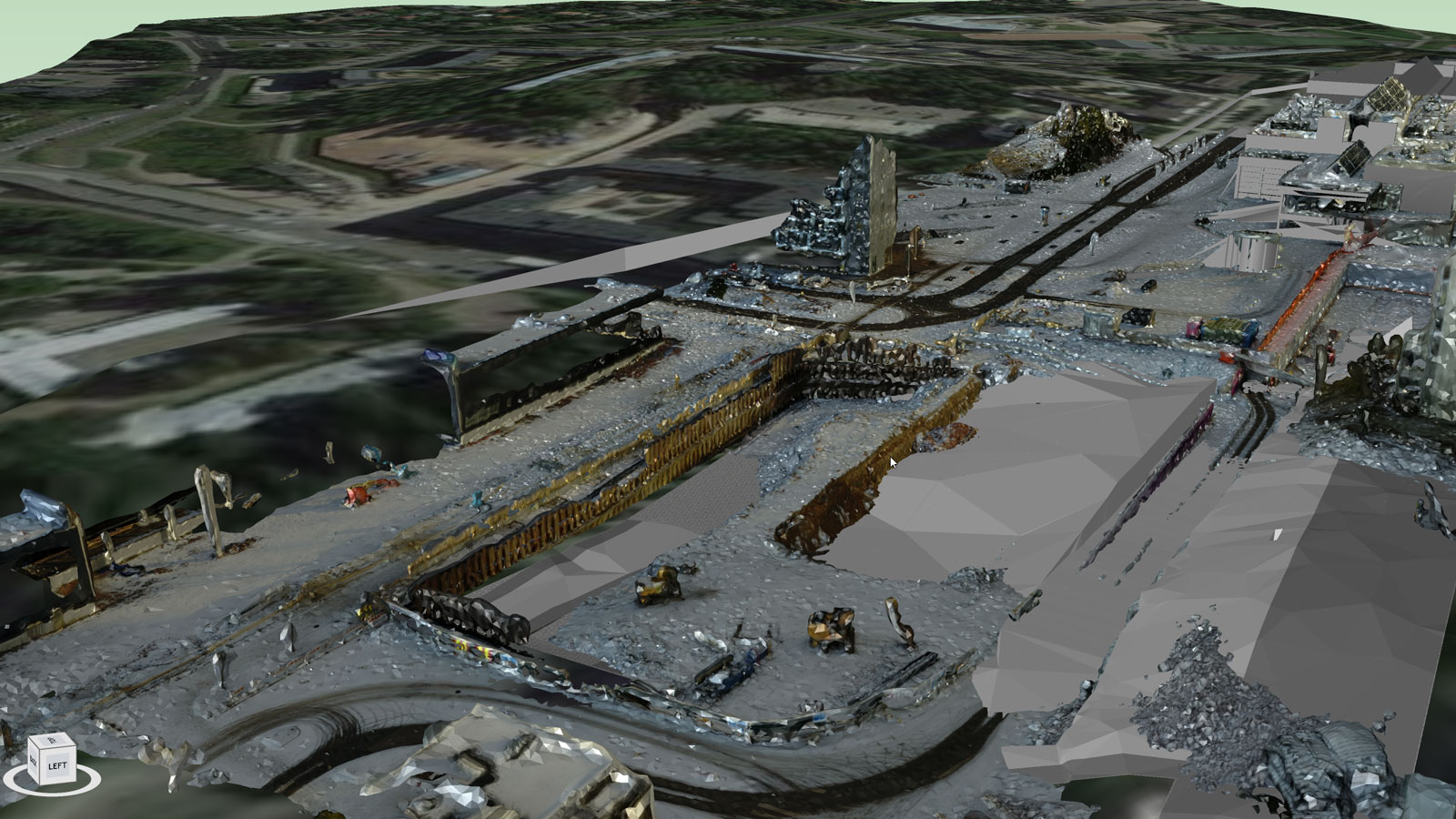 3D model of the construction site