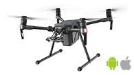 DJI Matrice 210 is an advanced drone for drone mapping and photogrammetry using Pix4Dcapture mobile app