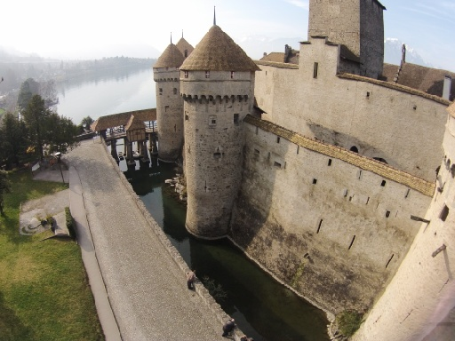 The same facade of castle Chillon taken from a different angle.