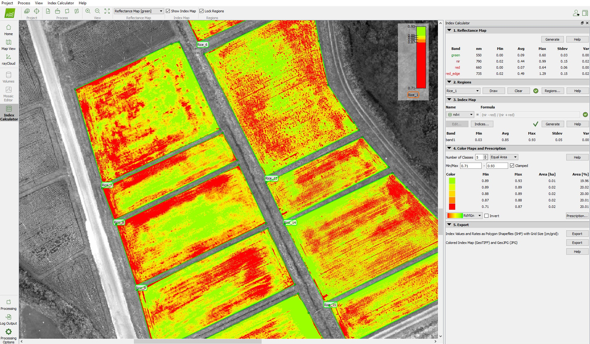 reflectance-maps-ndvi-agriculture-drone-sequoia-rice-japan