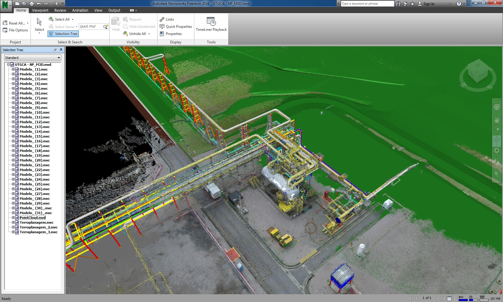 Industrial mapping output using drone mapping and photogrammetry software