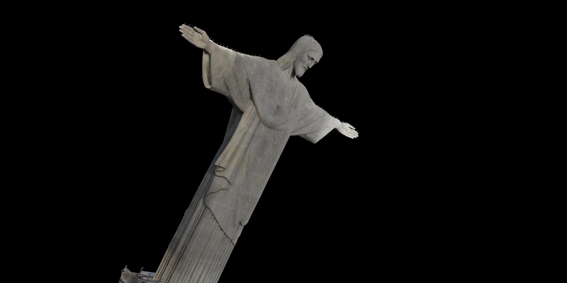 A 3D model of the statue of Christ the Redeemer