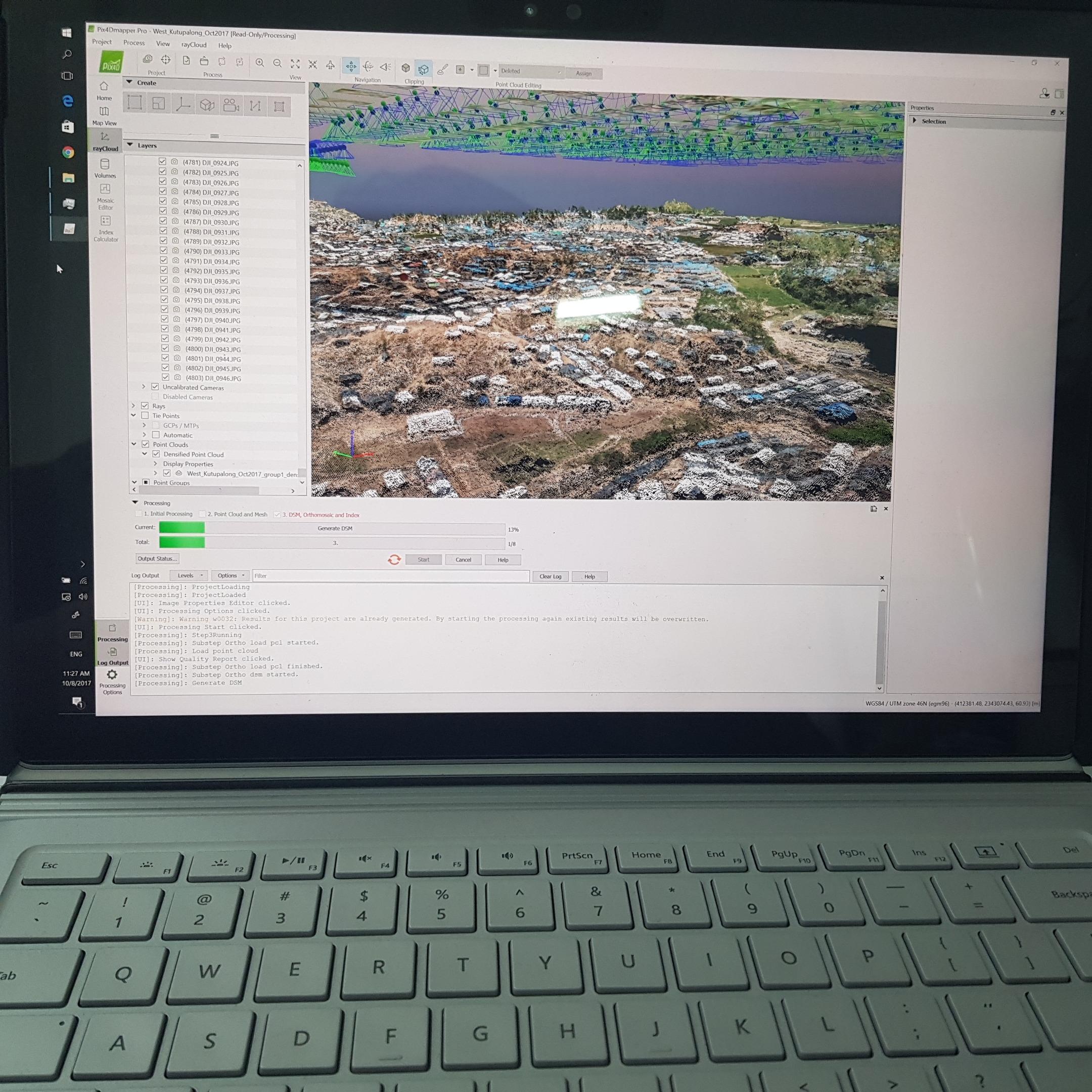Creating a 3D map in Pix4Dmapper