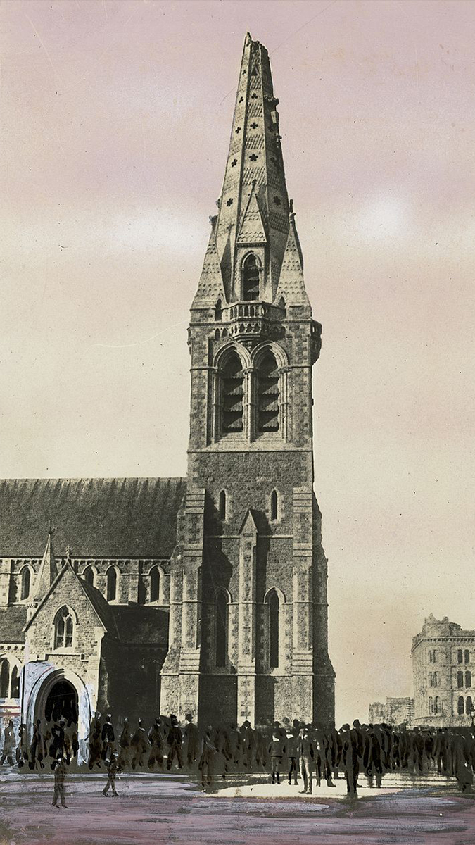 ChristChurch Cathedral NZ-1888 earthquake-damage