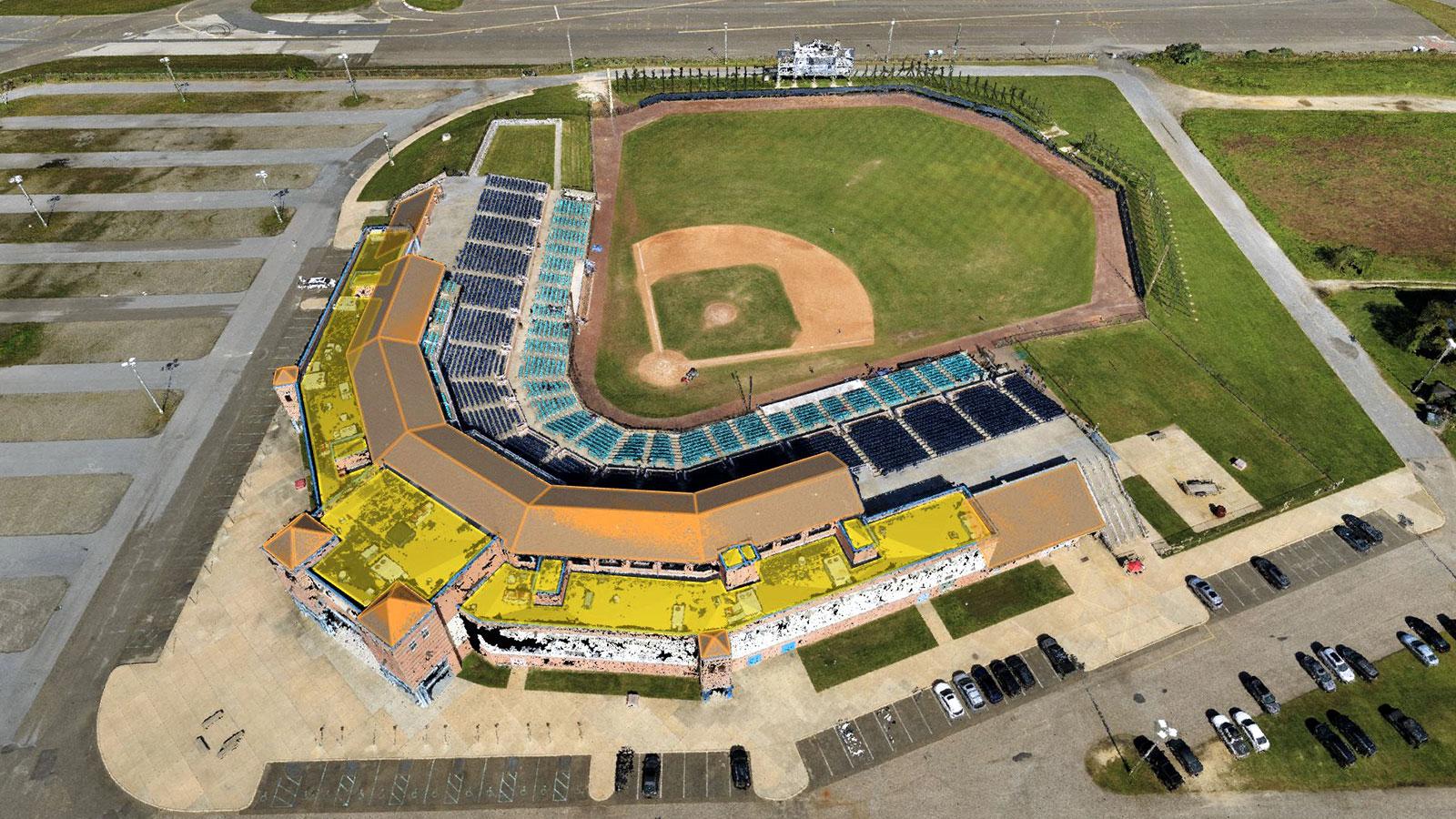 A baseball field at Bader Field